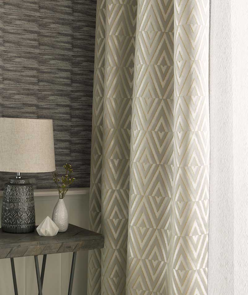 triangular patterned curtain
